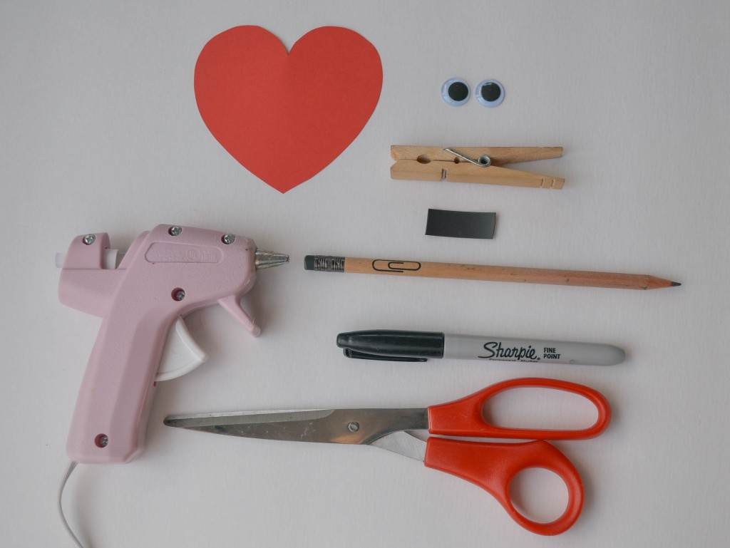 Clothespin Heart Magnet