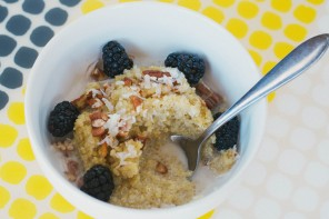 Coconut Pecan Quinoa W/ Blackberries