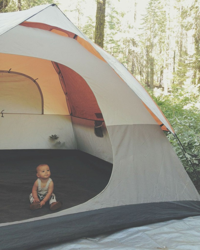 Camping with infants and toddlers